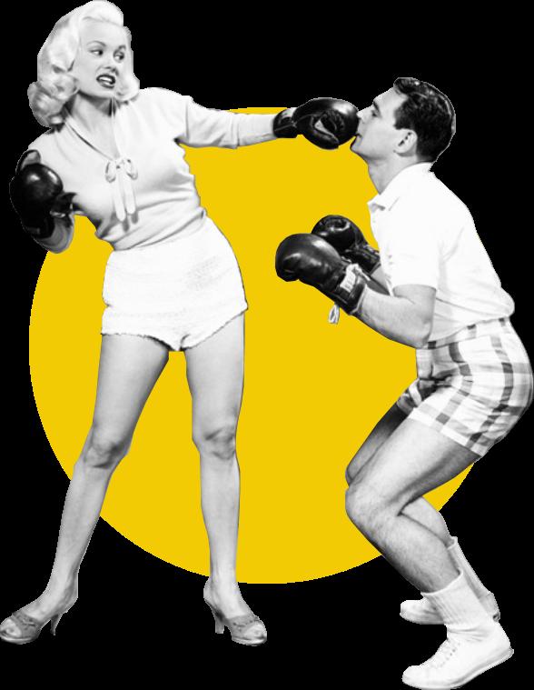 webrief contest - concours de design mensuel-deux personnes qui boxent
